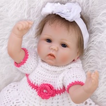45CM bebe doll reborn baby doll smooth Silicone reborn toddler Bonecas Emulated girl modle kid Early education surprice gift toy цена в Москве и Питере