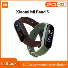 Original Xiaomi Mi Band 5 Smart Bracelet 4 Color AMOLED Screen Miband 5 Fitness Tracker Sport Waterproof Smartband Bluetooth 5.0