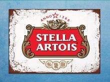 Estilo retro stella artois beer bar den metal sinais estanho parede placas presentes (30x20cm) /(30x15cm)