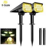 TSUN 2PACK Solar Light Outdoor 3000K/6000k/RGB/GREEN Solar Garden Light IP65 Solar Spotlight For Landscape Path Solar Wall Light