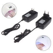 1Pc 24V 2A EU/US Power Supply Adapter For UV LED Lamp Nail Dryer Nail Art Tools