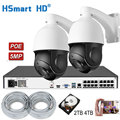 5MP 30xzoom PTZ IP POE Camera Outdoor H.265 16CH 5MP PoE NVR ONVIF Security Network Video Recorder H.265 Systeem voeg 4TB HDD