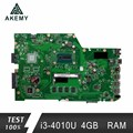 Akemy X751LA материнская плата для ноутбука ASUS X751LA X751LAB X751LD X751L X751 тест оригинальная материнская плата 4G RAM I3-4010U