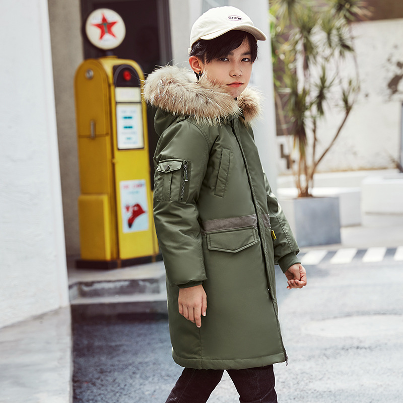 2019 Children <font><b>Feather</b></font> Winter Duck Down <font><b>Jacket</b></font> <font><b>Kids</b></font> Clothing Boys Parka Child Hooded Coat Teenager Clothes <font><b>Kids</b></font> Outwear 4-16years image