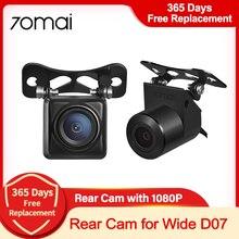 70mai-cámara de visión nocturna HD, videocámara de respaldo para Stream retrovisor, Media cámara de salpicadero ancha D07