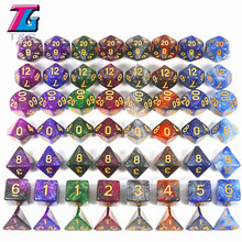 T&G Creative Universe Galaxy Dice Set of D4-D20 with Mysterious Royal Blue Mix Black,Glitter Powder ForTRPG,DND Board Game(China)