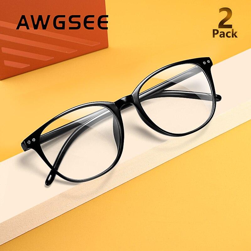 Купить awgsee ретро круглый синий светильник очки с блокировкой женские