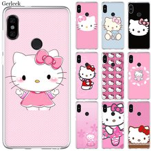 Mobile Phone Case For Xiaomi Redmi Note 4 4X 3 5 6 7 Pro 5A Hard Cover Lovely Pink Hello Kitty(China)