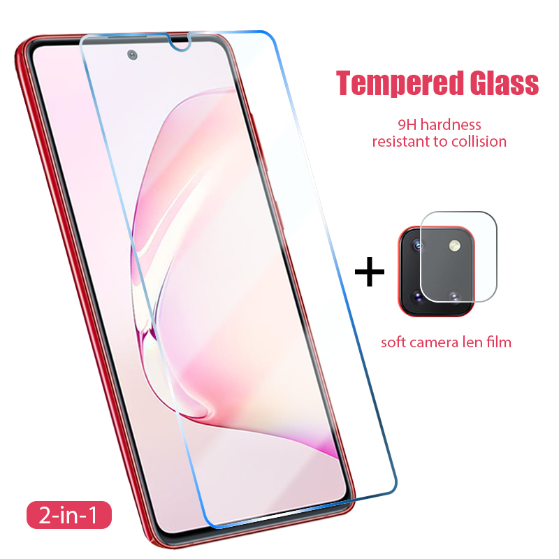 Закаленное стекло 2 в 1 для Samsung Galaxy M10 M20 M30 M40 M01 M11 M21 M31 M30S A70S A50S A40S A30S