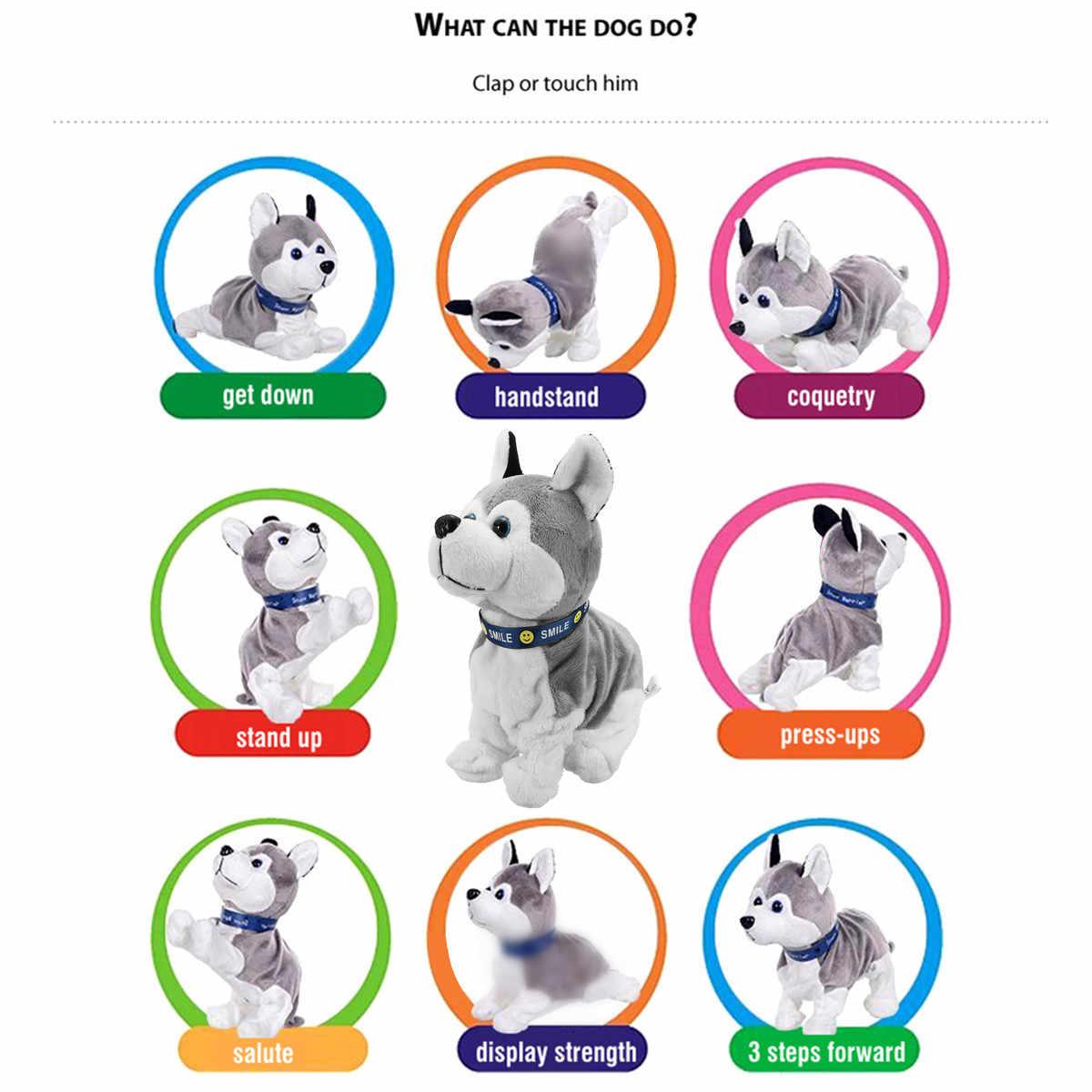 אלקטרוני רובוט כלב קול שליטה ילדים בפלאש צעצוע קול שליטה אינטראקטיבית קליפת Stand ללכת אלקטרוני צעצועי כלב עבור תינוק מתנות