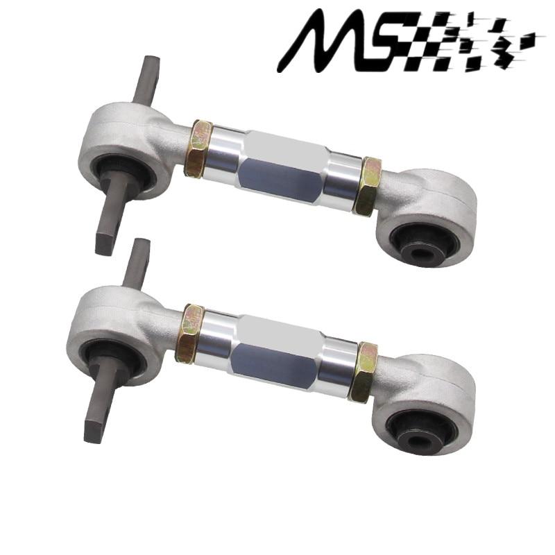 EK EM For Honda Civic Performance Stainless Steel Adjustable Front Upper Camber Kit Silver