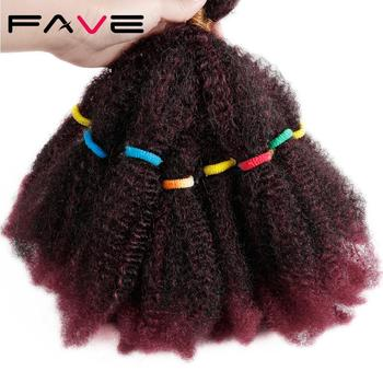 FAVE Braids Hair Afro Kinky Bulk Curly Synthetic Short 12
