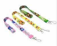 60 pcs Cartoon Neck Lanyard ID Badge Holders Mobile Neck Keychains For Party Gift WE 40