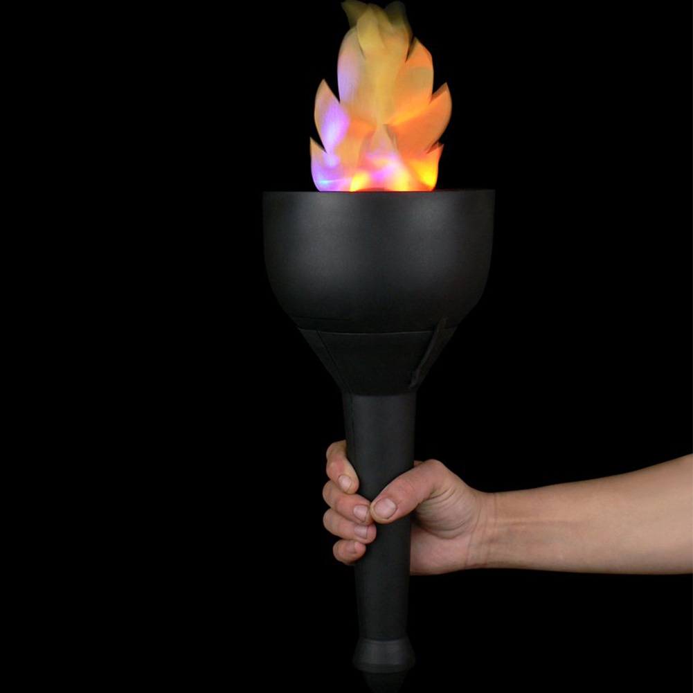 Fake Fire 4 In 1 Burning Torch Led Desktop Photoelectric Flame Lamp Handhold Halloween Hanging Party Electronic Bonfire