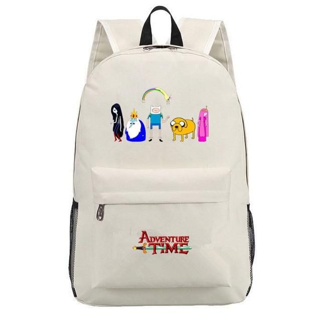 Adventure Time canvas backpack printing shoulder school bag travel bag knapsack Boy Girls packsack laptop bag