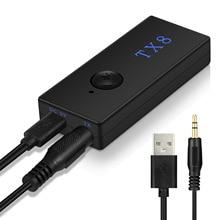 TX8 Bluetooth Transmitter TV Audio Transmitter Bluetooth Adapter TV Audio Transmitte ts bt35f03 bluetooth 3 0 audio transmitter black
