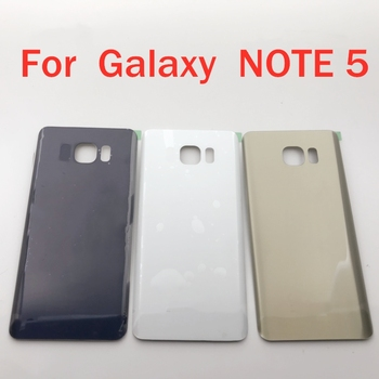 Rear Housing Case GLASS For Samsung Galaxy Note 5 N920 N920F SM-N920FD Battery Back Cover Door Rear Cover For note 5 for samsung galaxy j7 2016 j710 sm j710f j710fn j710m j710h j710a housing battery cover back cover case rear door chassis shell