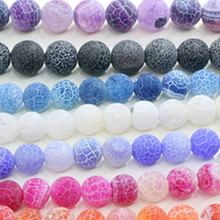 Fashion Natural Weathered Agate Beads DIY Handmade Semi-finished Bracelet Necklace Jewelry Accessories