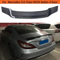 For Mercedes CLS Class W218 sedan Spoiler Carbon Fiber Rear Trunk Spoiler Wing 2011 2012 2013 2014 2015 2016