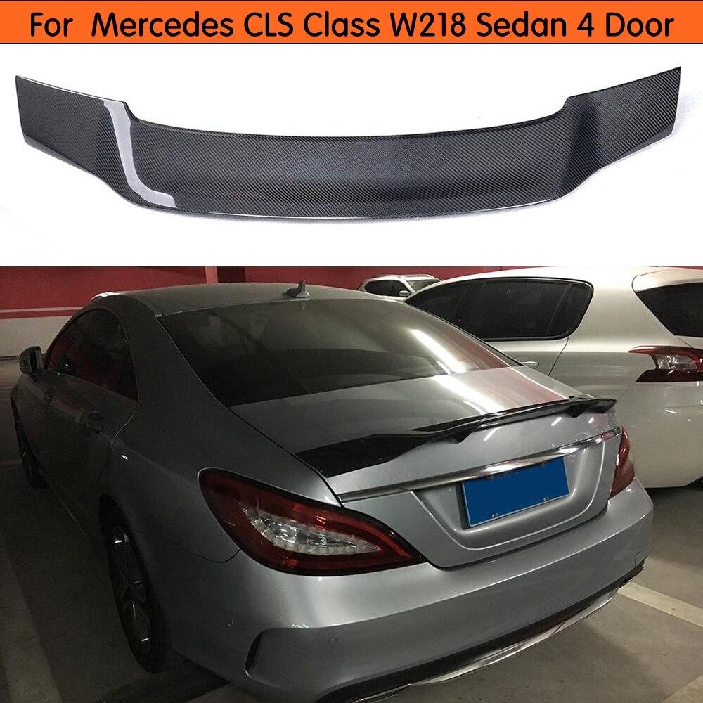 Pour Mercedes CLS classe W218 berline becquet en Fiber de carbone aileron de coffre arrière 2011 2012 2013 2014 2015 2016