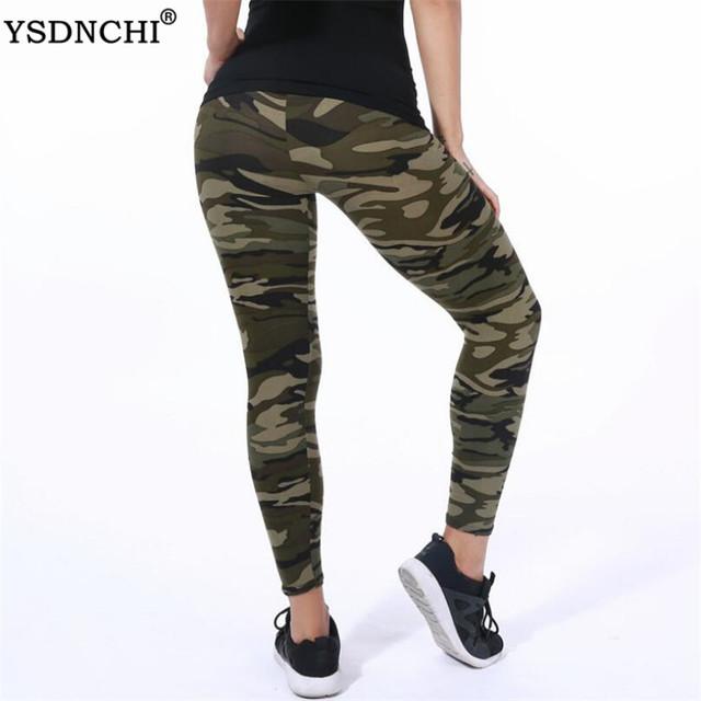 Women Leggings High Elastic Skinny Camouflage Legging Slim Army Green Jegging Fitness Leggins Gym Sport Plus Size Pants