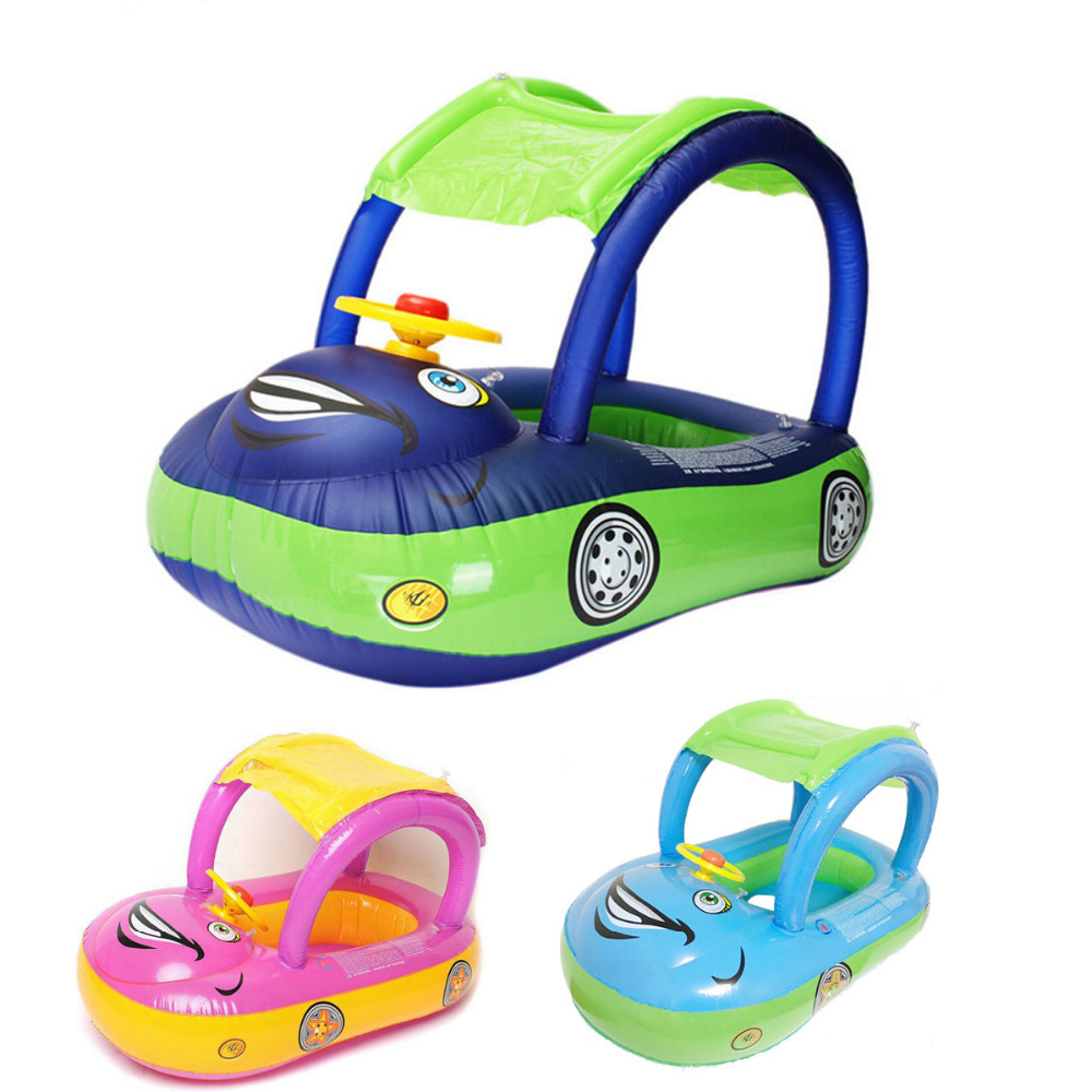 Summer Baby Kids Cartoon Float Seat Car Boat Swimming Ring Inflatable Children Rubber PVC Circles Safety Swimtrainer Pool