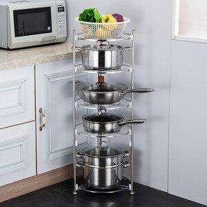Органайзеры для кастрюль 5, 3, 2 уровня, органайзер для кастрюль и сковородок, регулируемые держатели для крышек и сковородок, полка для кухон...
