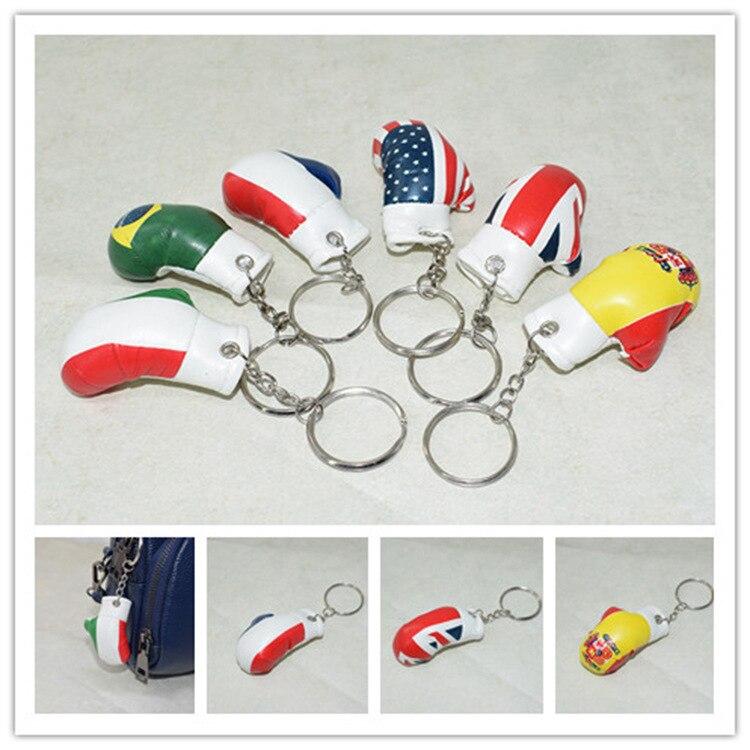 6CM Mini Simulation gants porte-clés mignon mode cadeau ensemble de boxe sport porte-clés ornement gants de boxe pendentif porte-clés K2467