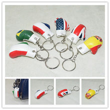 6Cm Mini Simulatie Handschoenen Sleutelhanger Schattige Mode Gift Boksen Set Sport Sleutelhanger Ornament Bokshandschoenen Hanger Sleutelhanger K2467