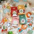 Серия Счастливого Рождества, декоративные наклейки в коробке, наклейки для скрапбукинга