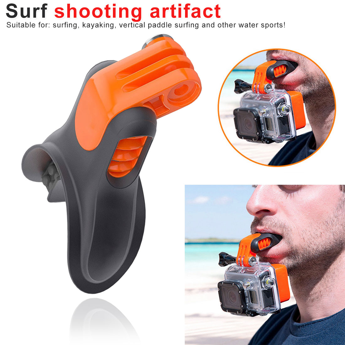 Action Camera Teeth Braces Holder Mouth Mount for GoPro Hero Xiaomi Yi SJCAM Surfing Diving Shoot Camera Accessories