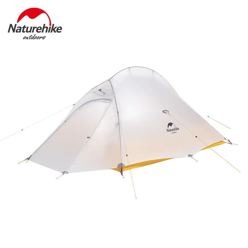 Naturehike Cloud UP 2 Сверхлегкая палатка 10D нейлоновая силиконовая портативная Самостоятельная палатка с бесплатным ковриком для походов на открытом воздухе