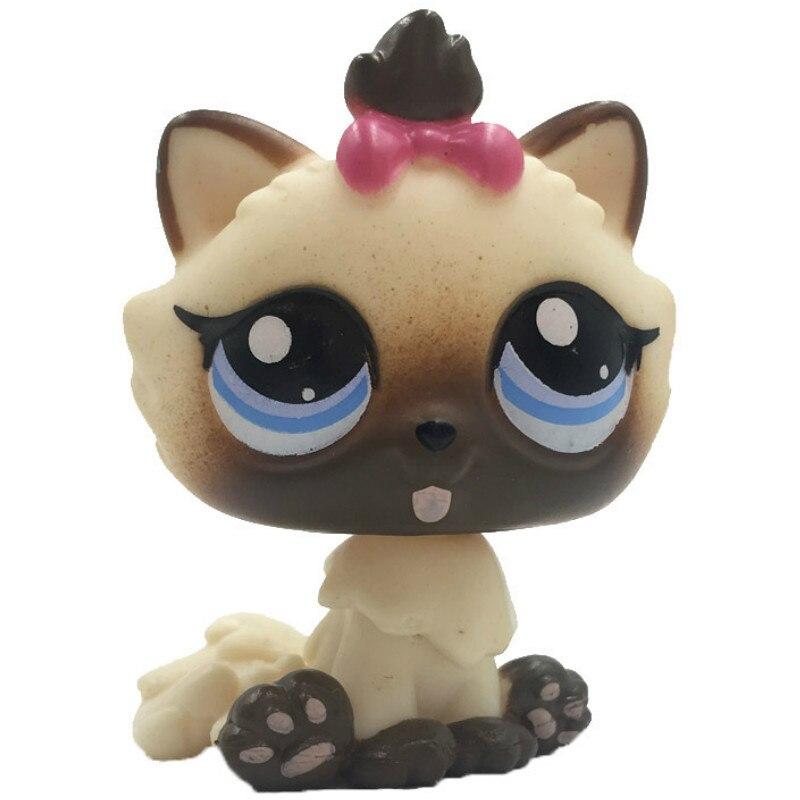 Лпс стоячки кошки Игрушки для кошек lps, редкие подставки, маленькие короткие волосы, котенок, розовый#2291, серый#5, черный#994,, коллекция фигурок для питомцев - Цвет: 2545