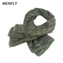 цена MENFLY Outdoor German Desert Camouflage Anti-mosquito Scarf Woodland Digital Invisible Tactical Square Turban Decorative Scarf онлайн в 2017 году