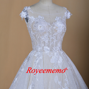 Image 4 - Robe de mariée sur mesure, robe de mariage brillante, robe de mariée, à manches courtes, sur mesure, robe de bal dubaï bling, directement à lusine, 2020