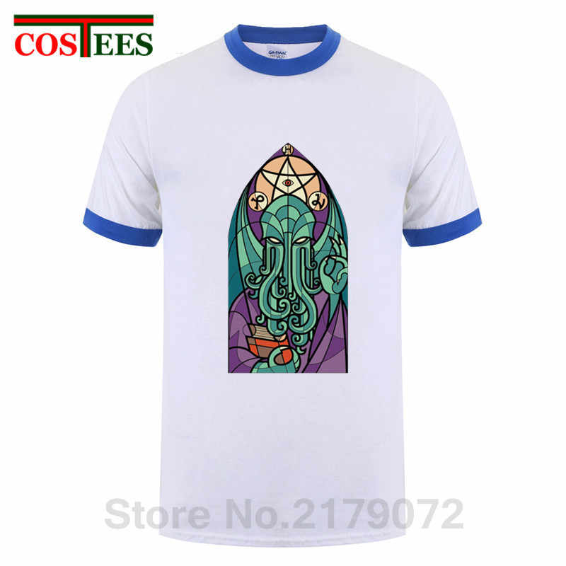 2020 Zomer Mode O Hals Korte Kerk Van Cthulhu T Shirts Mannen Miskatonic Lovecraft Arkham Dunwich Kathedraal Cult T-shirt Homme