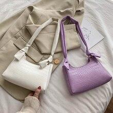 цена на Crocodile Knotted Design Crossbody Bags For Women Candy Color Women Shoulder Bag 2020 Fashion Female Handbags Underarm Woman Bag