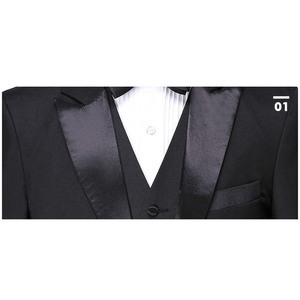 Image 5 - Shenrun ผู้ชายคลาสสิก 3 ชิ้น Tailcoat สีดำสีขาวงานแต่งงาน Tuxedo เจ้าบ่าวสูทธุรกิจ Party Prom นักร้องนักเต้น Host ชุดเวที