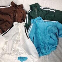 2020 wiosna nowe dzieci cienka kurtka maluch chłopcy i dziewczęta casual zip-up jacket sunprotection kids jackete dla dziewczynek