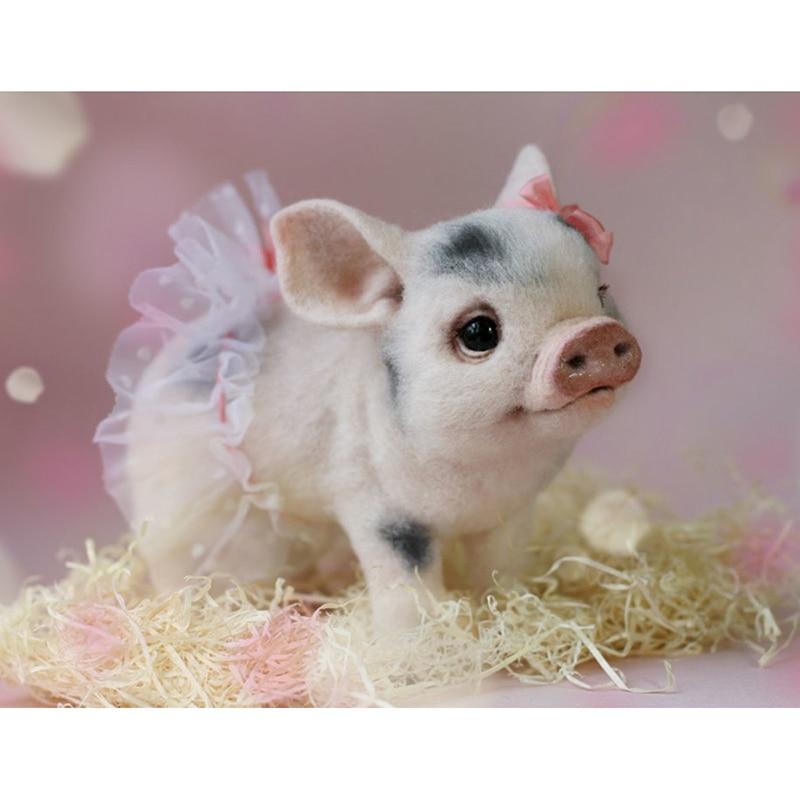 DIY 5D Diamond Painting Pig Embroidery Cross Stitch Kit Home Decoration