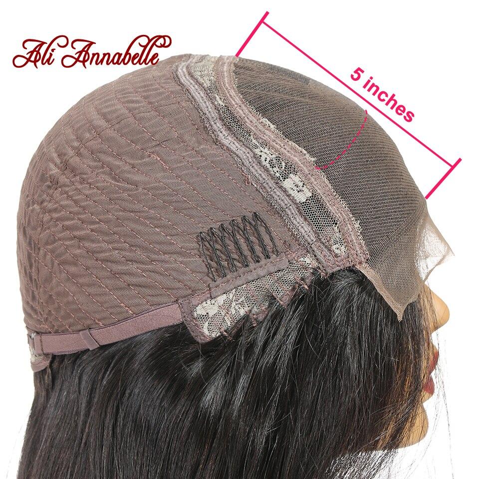 H263931c719c64f92b05a9046f4747c4ck Lace Closure Human Hair Wigs Brazilian Straight Lace Closure Wig 4*4 5*5 Closure Human Hair Wigs With Baby Hair ALI ANNABELLE