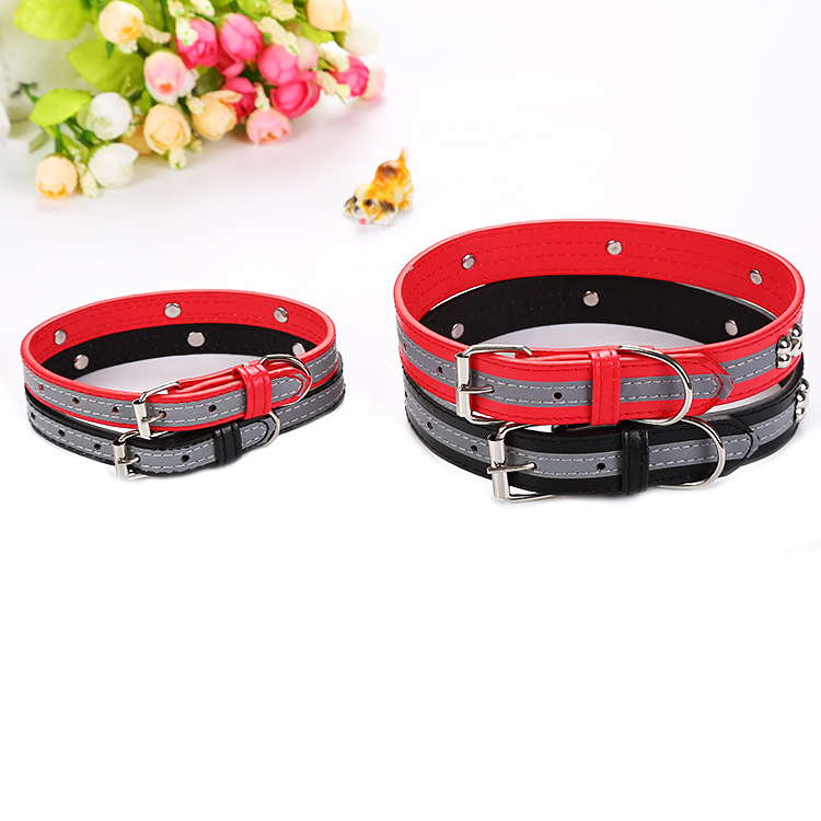 New Style Cat Dog Reflective Strips Neck Ring Bone Pattern Pet Traction Factory Currently Available Wholesale Cross Border Hot S