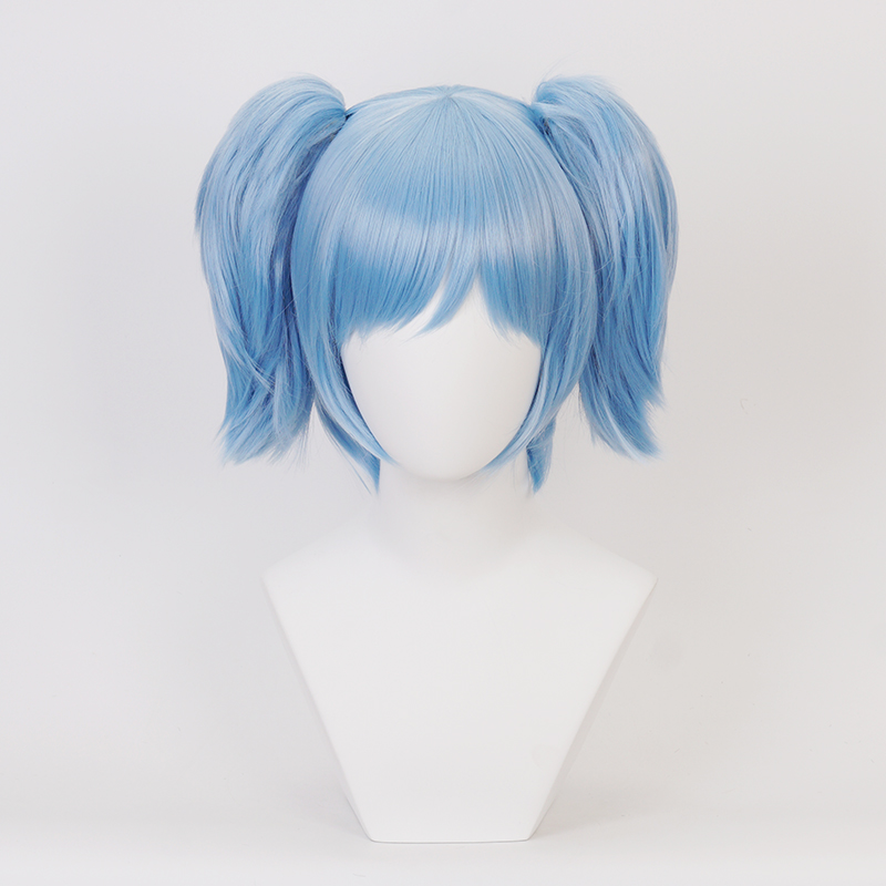 Sally Face Cosplay Wig Sallyface Blue Short Heat Resistant Synthetic Hair Wigs Chip Ponytails Wig Cap Aliexpress