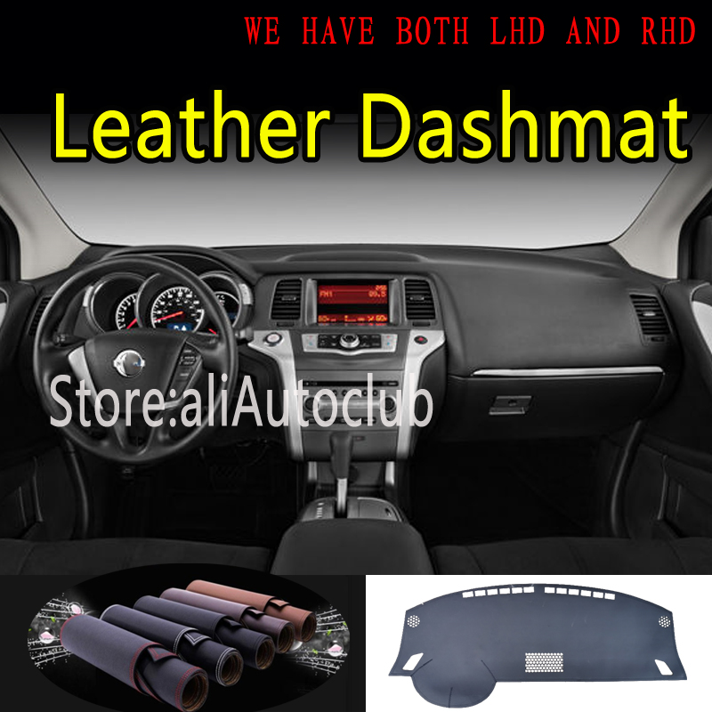 For Nissan Murano Z51 2009 2010 2011 2013 2014 Leather Dashmat Dashboard Cover Dash Mat Sunshade Carpet Car Styling Accessories