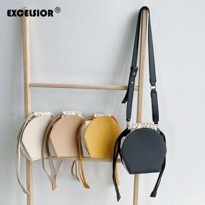 Image 1 - EXCELSIORสตรีกระเป๋าขายคุณภาพPUกระเป๋าไหล่กระเป๋าผู้หญิง 2020 String Crossbody BAGสายคล้องกระเป๋าbolso de mujer De cuero