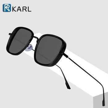 цена на Retro Square Sunglasses Men Tony Stark Sun Glasses Luxury Brand Designer Steampunk Sunglasses Red Black Sunglass Women UV400