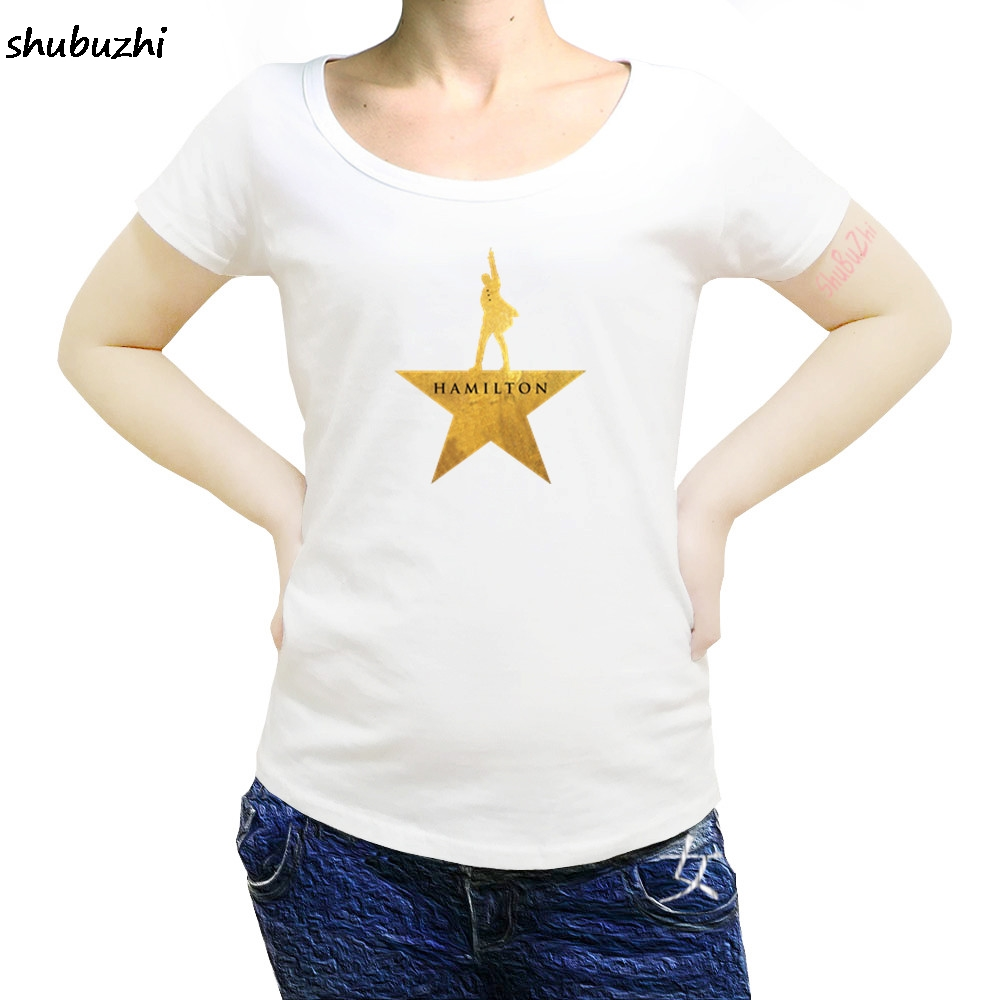 hamilton Summer casual women T-Shirt American Musical Broadway Gold Star Cotton O-Neck Short high quality women T-Shirt sbz3227 2