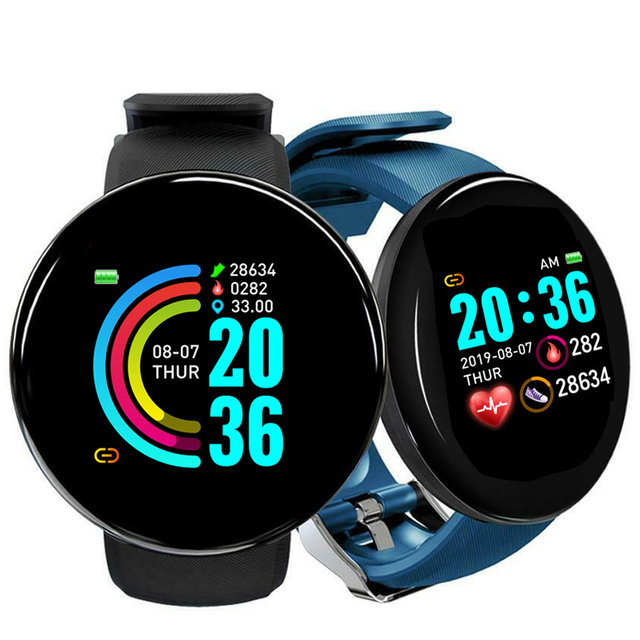 Y68 Sport Smart Watch Bluetooth Smart Band Fitness Tracker Heart Rate Monitor Blood Pressure D18 Smartwatch for Android IOS