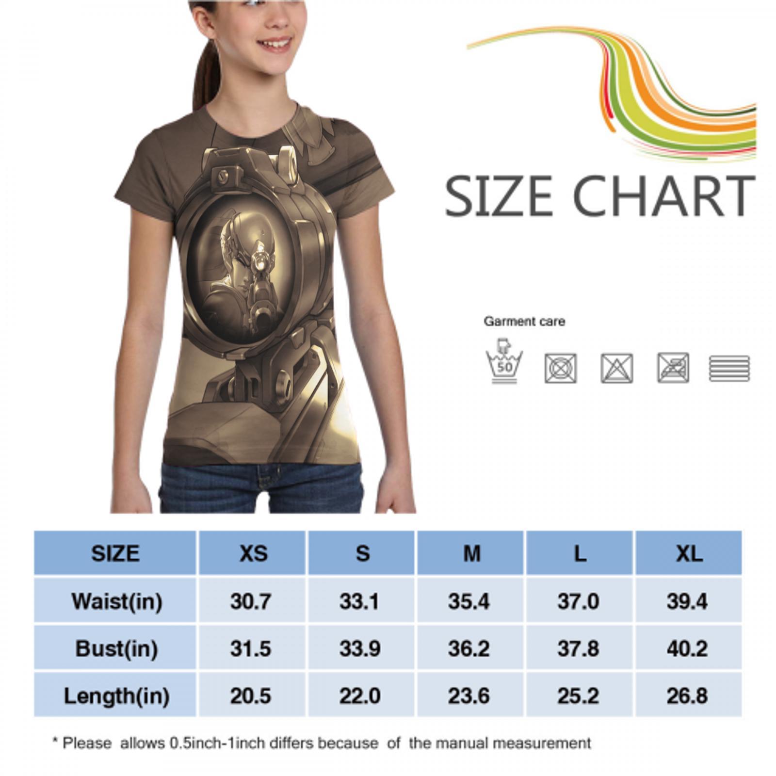 printing overwatch summer t shirt harajuku female/male casual t shirt overwatch action figure women/men t shirt 5