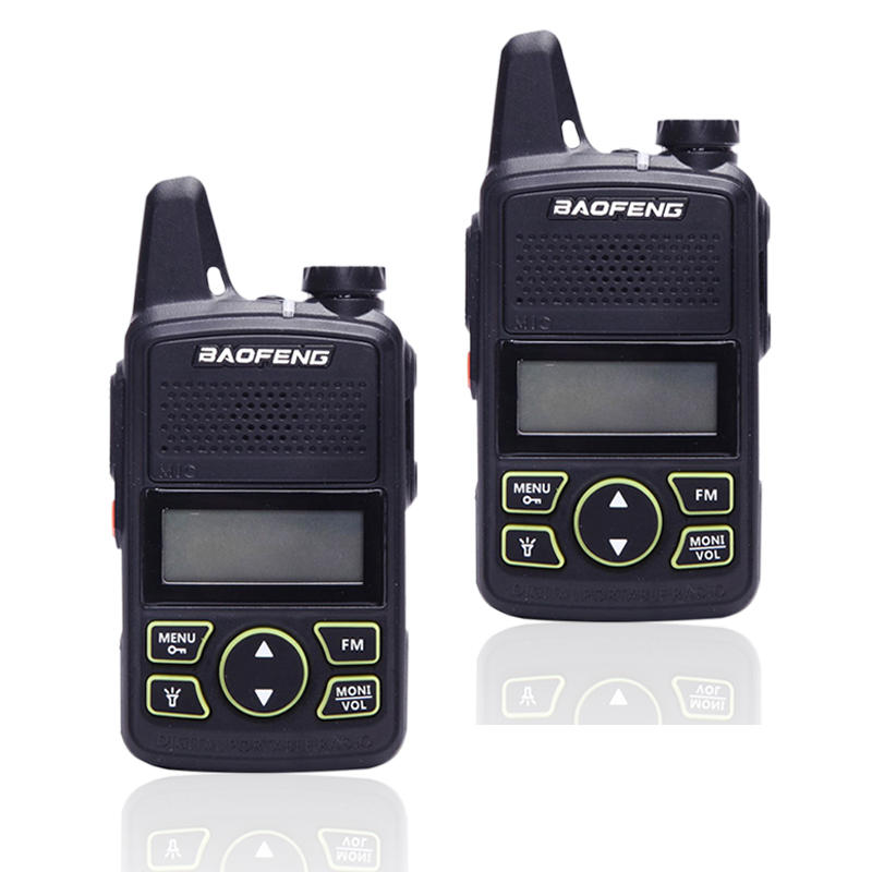 2Pcs Baofeng BF-T1Mini Walkie Talkie Ultra Thin CB Two Way Radio UHF 20CH Flashlight Handheld Transceiver Portable Ham Radio